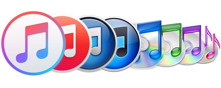 history of iTunes logos
