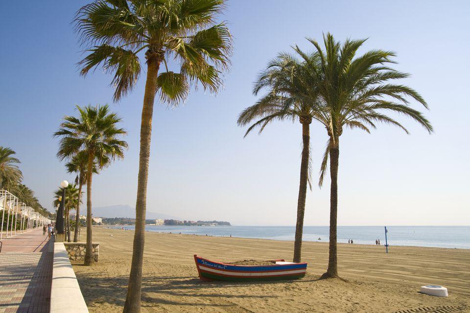 Beach at Estepona on Spain's Costa del Sol