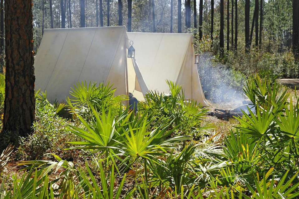 Primitive camping in Florida