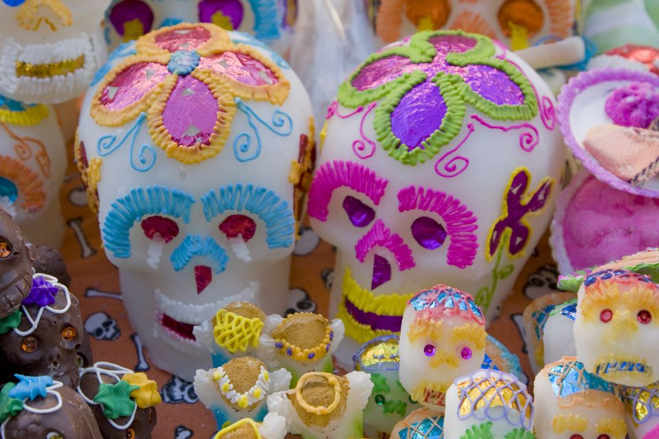 Day of Dead Celebrations, Candy Sugar Skulls, Oaxaca, Mexico