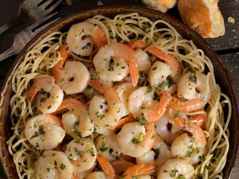 one pot shrimp linguine