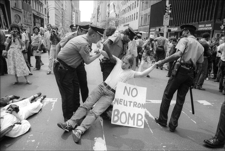 Demonstrator Arrested On 5th Ave.