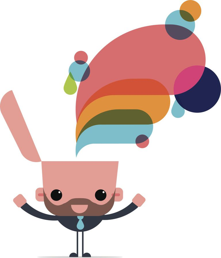 Creative thinking cute character