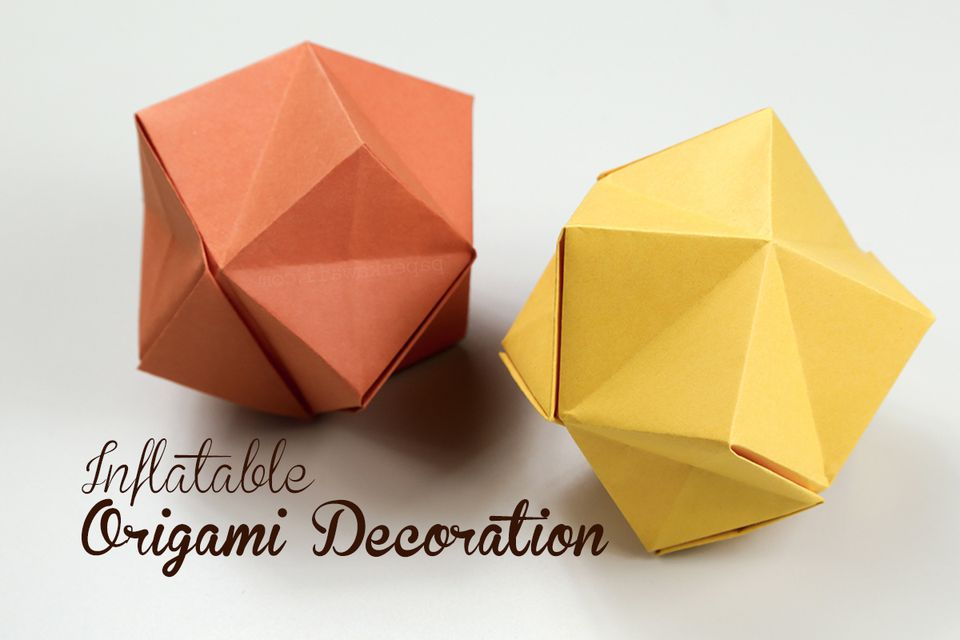 Inflatable origami decorations