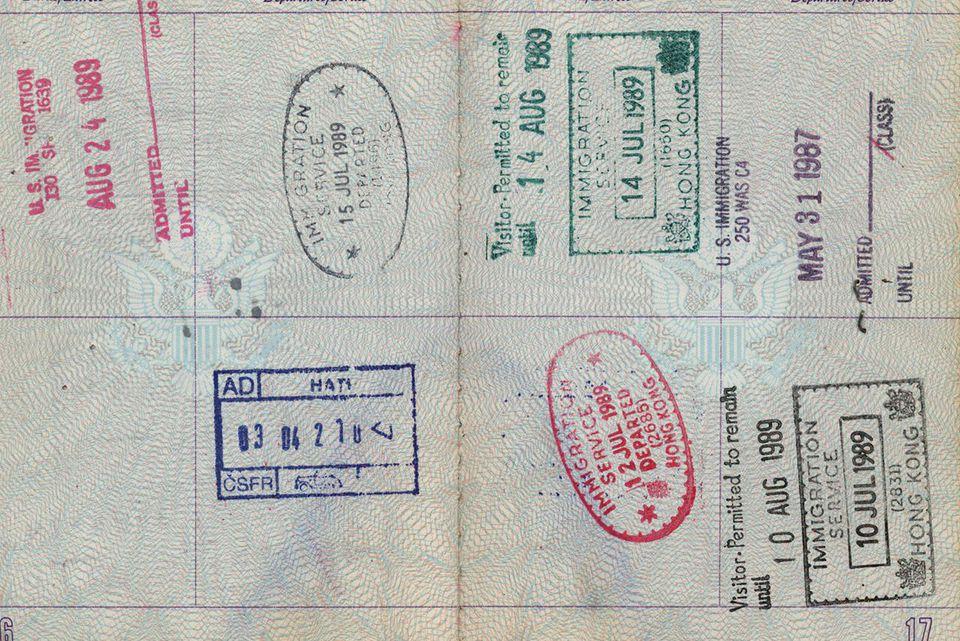 Passport- hong kong visa