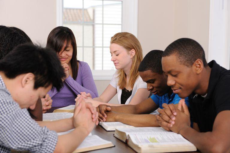 Teens at a bible study