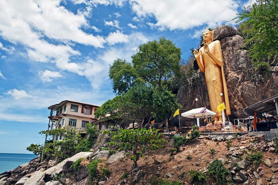 Golden Buddha, Chopsticks Hill (Khao Takiab)Hua Hin, Thailand.