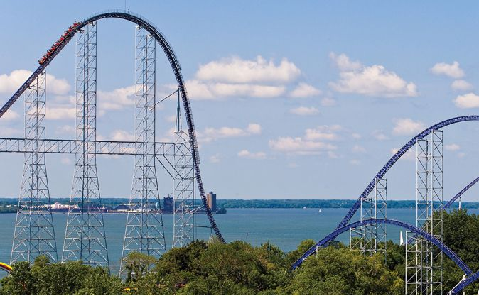 Millennium Force coaster at Cedar Point