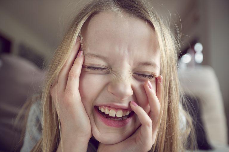 Laughing girl (9-10)
