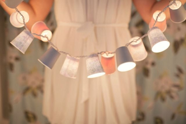 dixie cup light strand