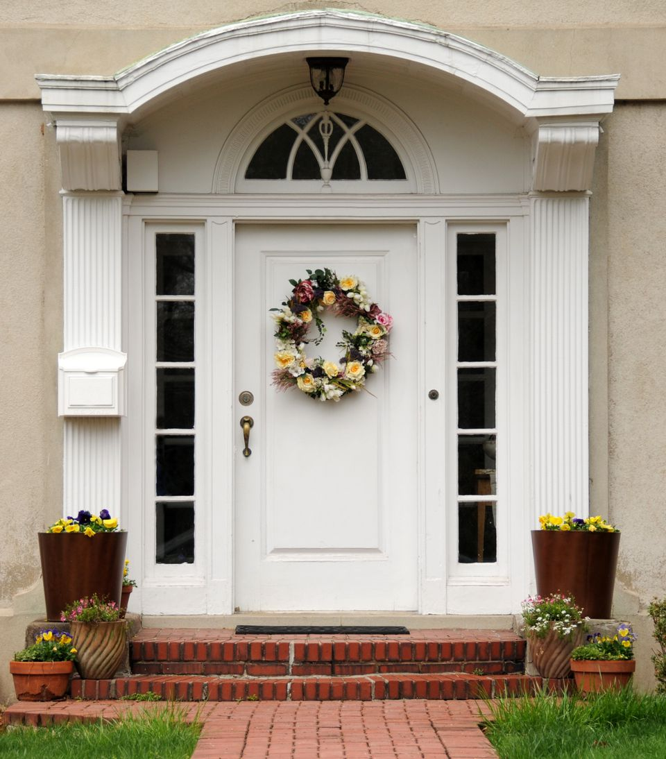 white front doorChoose Your Best Feng Shui Front Door Color