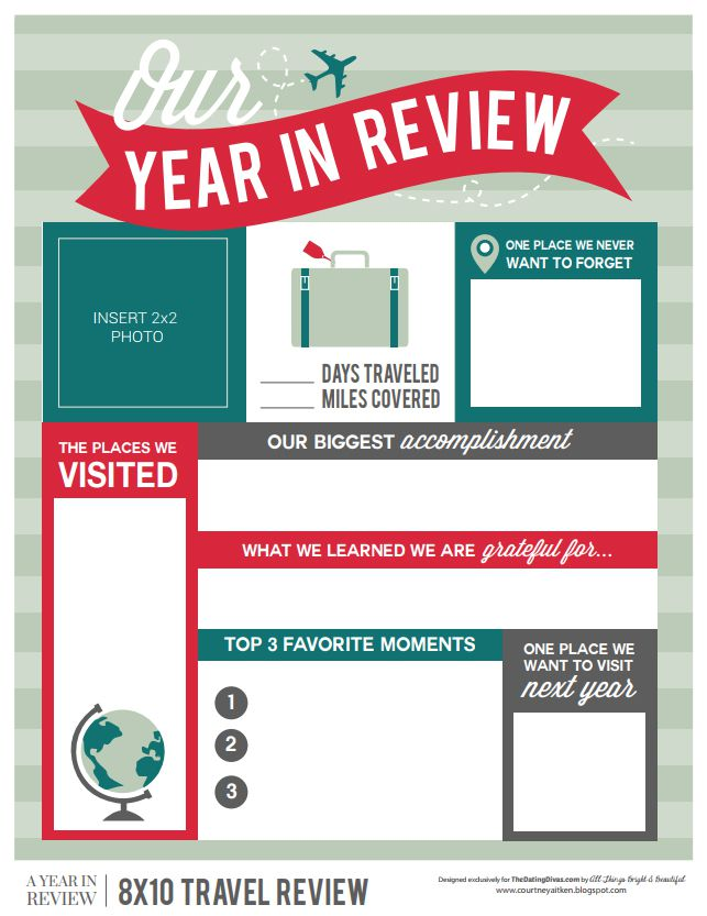 year in review template free