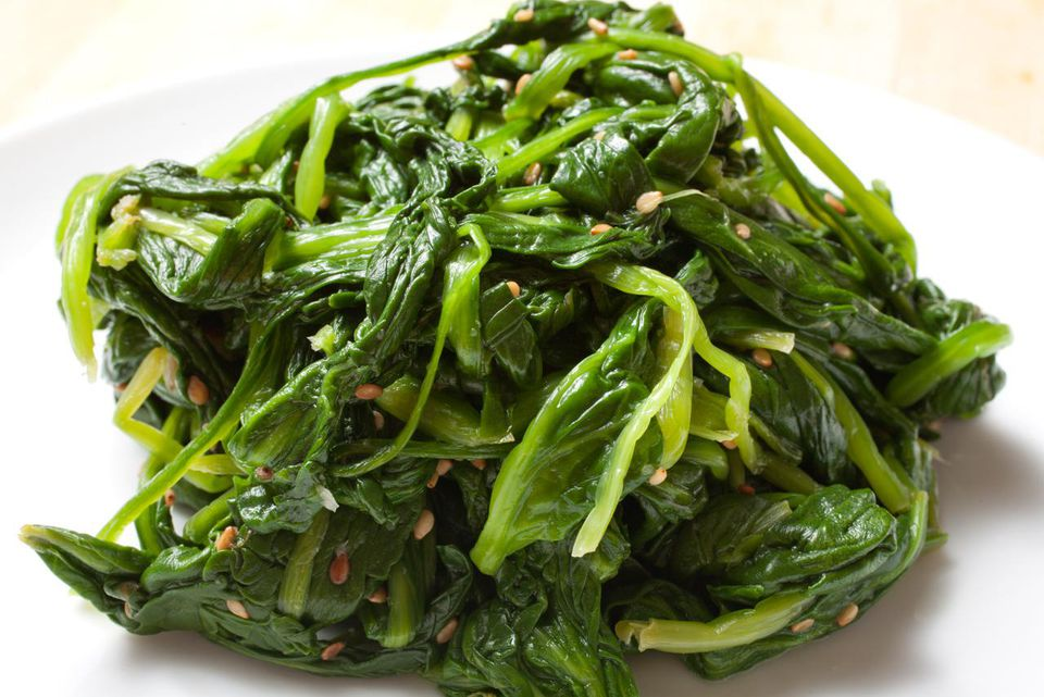 Korean spiced spinach