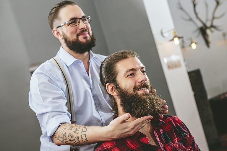 Man with Full Beard, Man with Hipster Beard