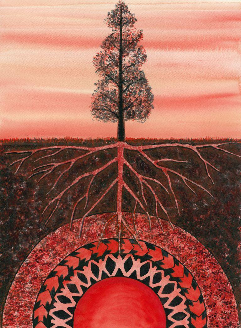 Gráfico de raíces de un arbol