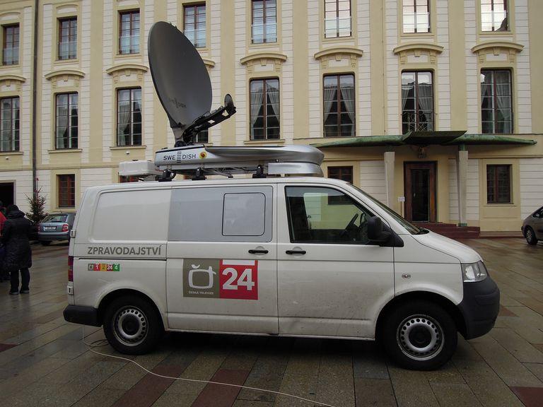 Czech live TV broadcast van