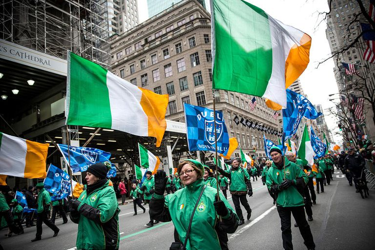 St Patrick's Day Parade Marches Up New York's Fifth Avenue