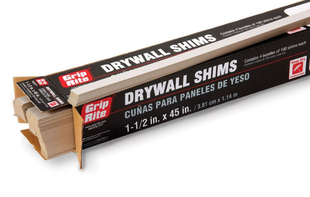 drywall shims   what they are and how to use them
