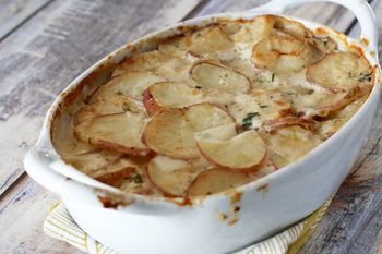 Great Tasting Scalloped Potatoes With Green Onions