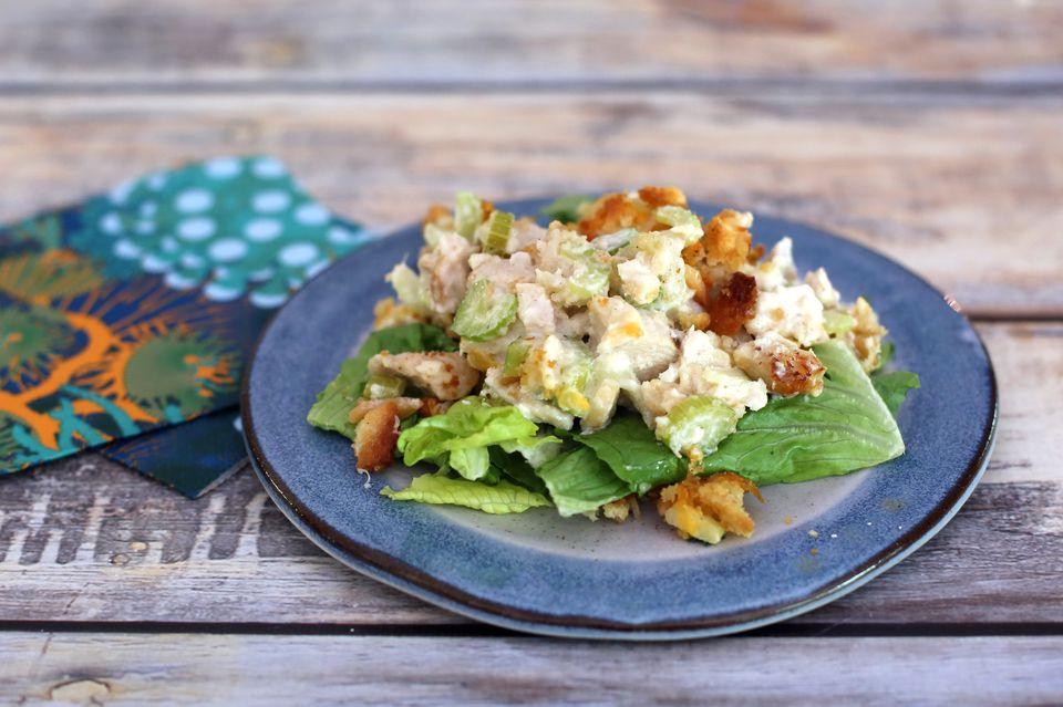 hot salad turkey, chicken, or tuna