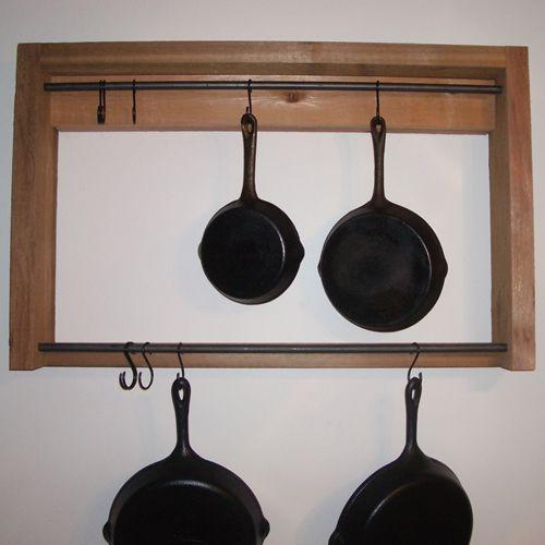 Rustic Pot Rack