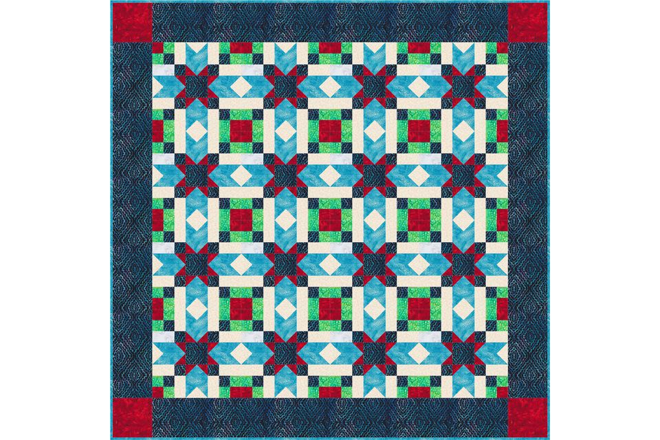to Make Quilt Borders with Corner Squares : how to make quilt squares - Adamdwight.com