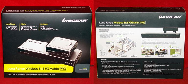 IOGEAR Long Range Wireless 5x2 HDMI Matrix PRO - Retail Box