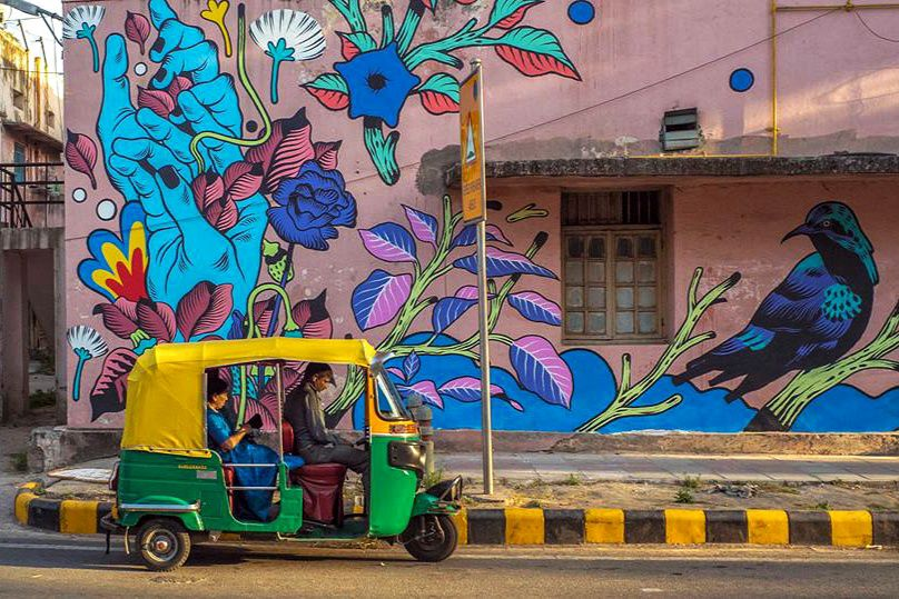 Bicicleta Sem Freio | @dojla | Lodhi Art District|