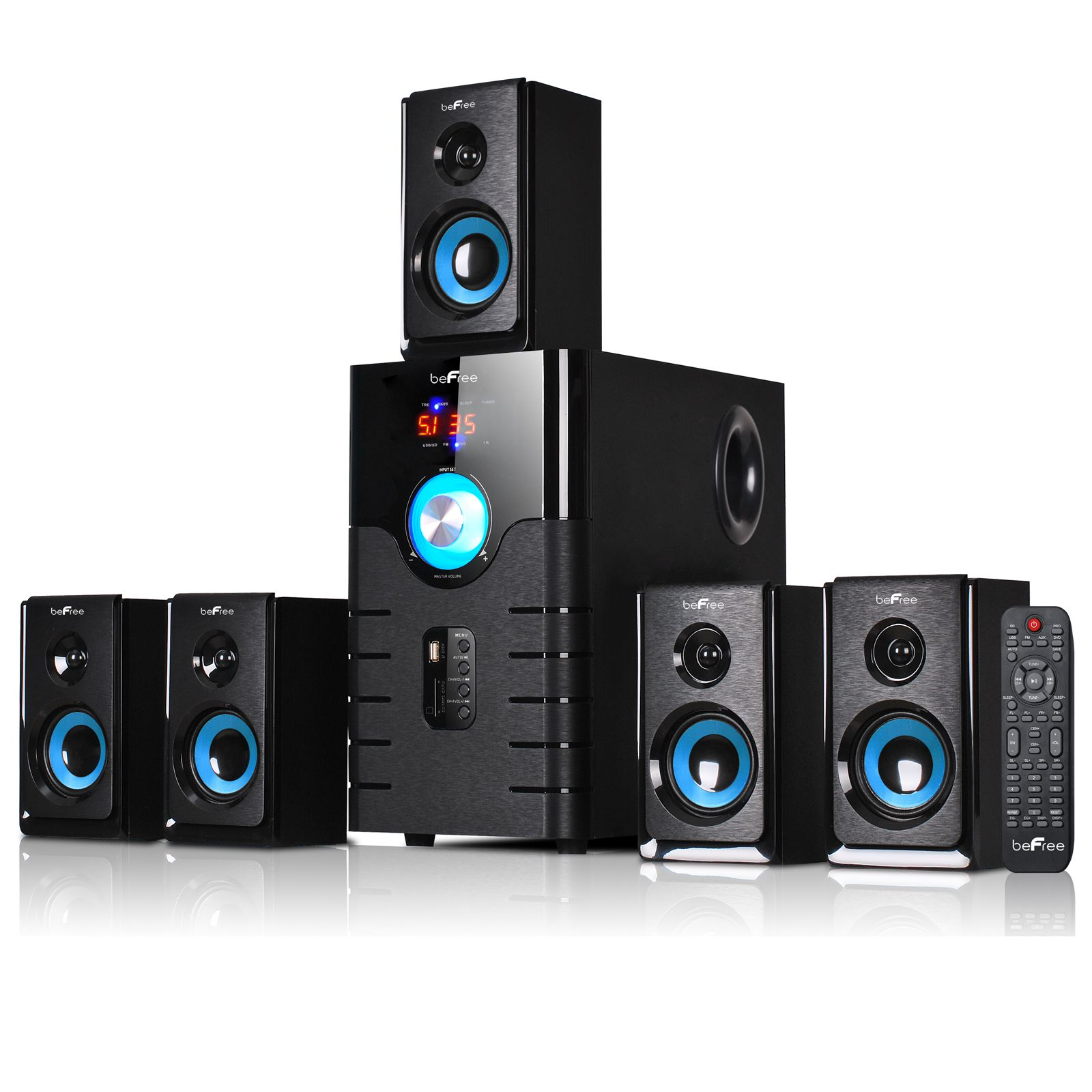 Image Of BeFree Sound 51 Channel Surround Bluetooth Speaker System