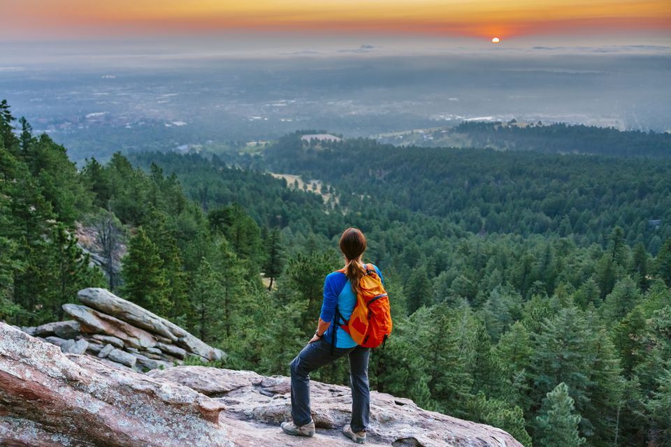 View from Boulder's Flatiron Trail