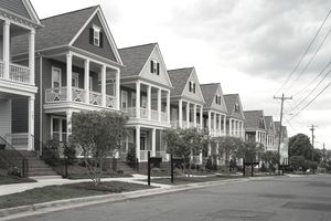 Row houses in Charlotte, NC