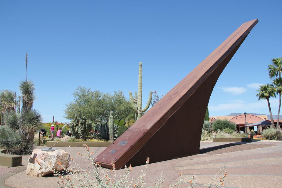 The Carefree Sun Dial and Gardens in Carefree, Arizona