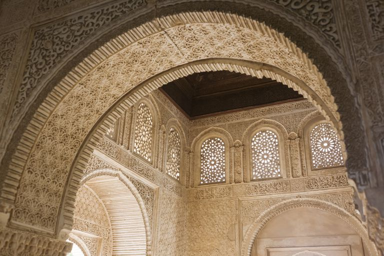Alhambra Muslim Arch Carving at the Court of the Soultana, Generalife