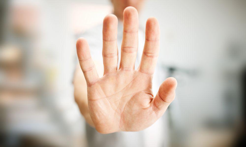 Close up of man's hand