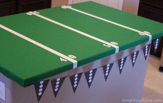 DIY Football Field Table Cover