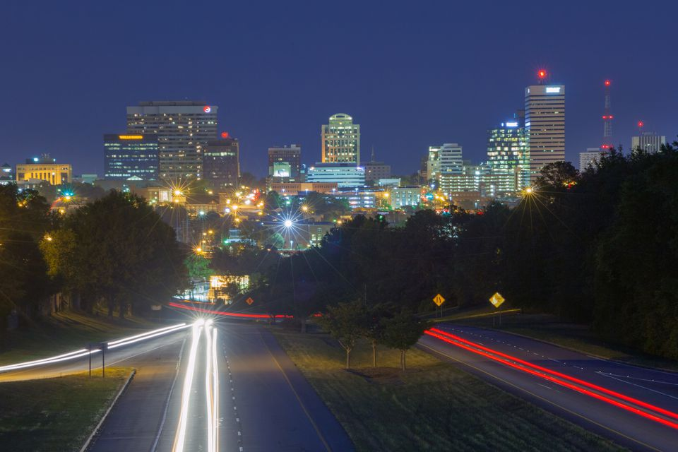 The skyline of Columbia, South Carolina.