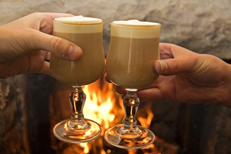 Irish Coffee by fireside.