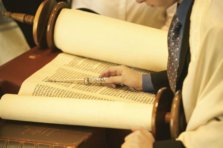 Young Man Reading from the Torah at a Bar Mitzvah