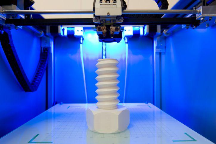 Bolt in a 3D printer