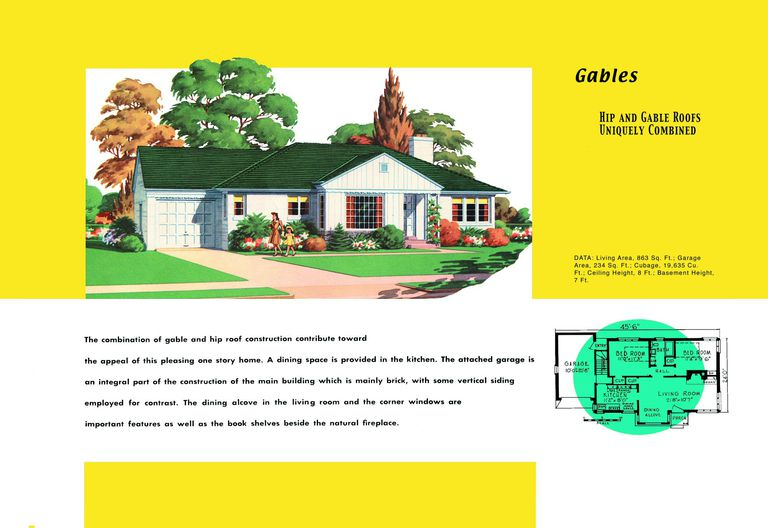 Ranch homes plans for america in the 1950s for Stock house plans