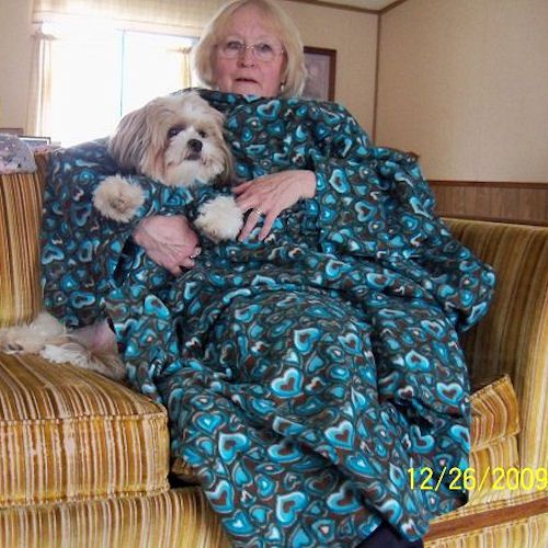 Fleece Snuggle Blanket With Sleeves