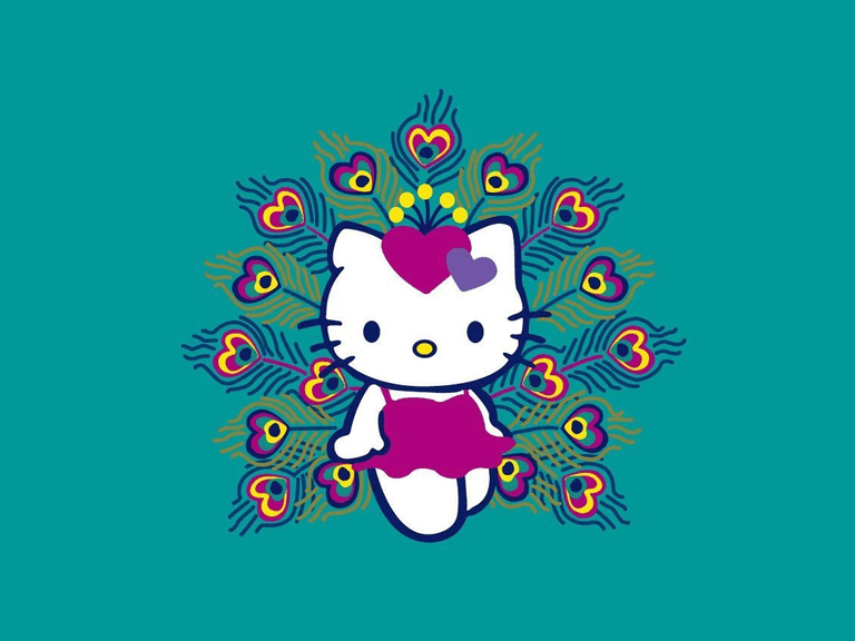 The top free hello kitty wallpapers peacock hello kitty wallpaper voltagebd Image collections
