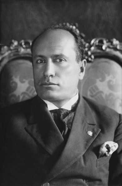 Picture of Benito Mussolini, fascist dictator of Italy.