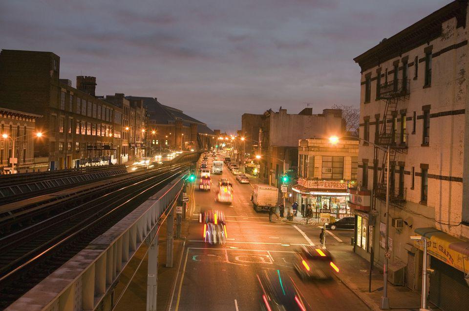 Long Island Railroad Through Brooklyn