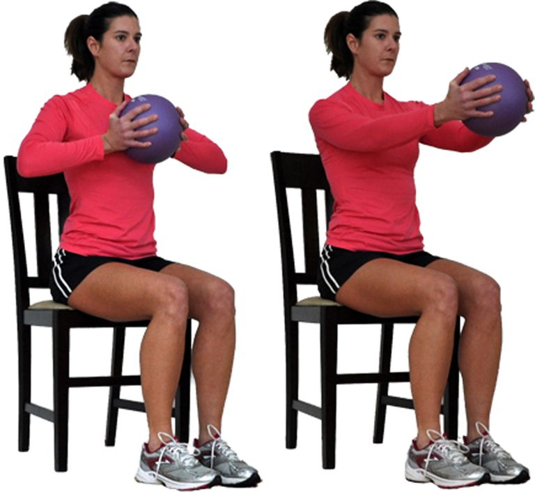 Stability Ball Upper Body Workout: Seated Upper Body Workout