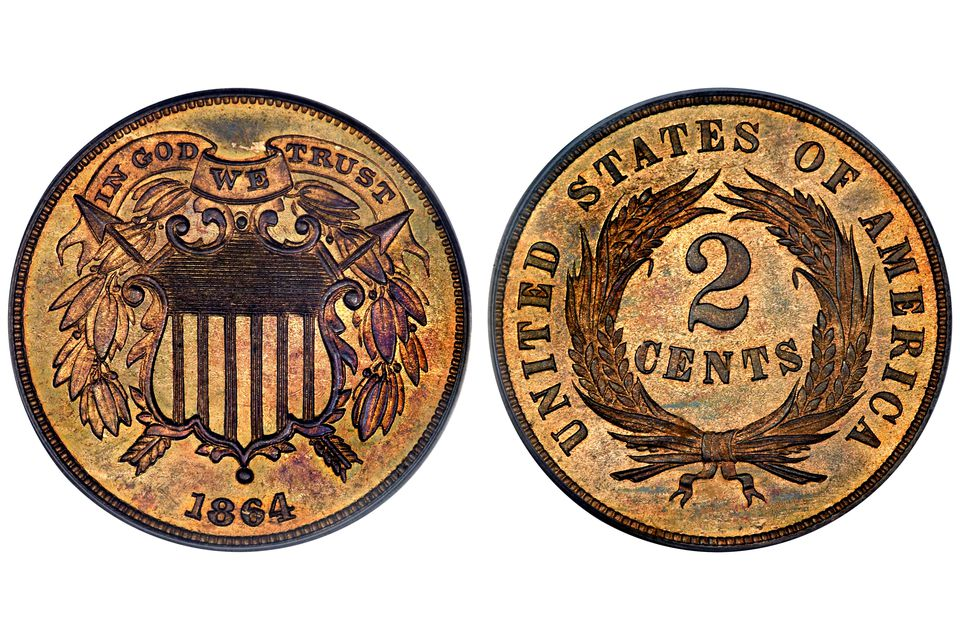 1864 United States Two Cent Piece
