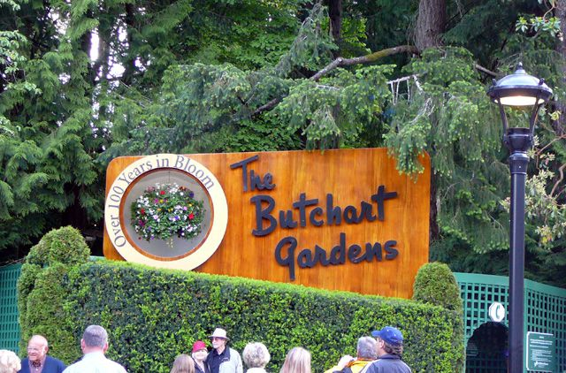 Entrance Sign at The Butchart Gardens