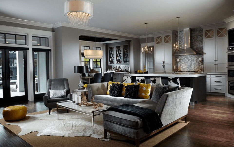 Gray living room ideas for Beautiful drawing rooms interior