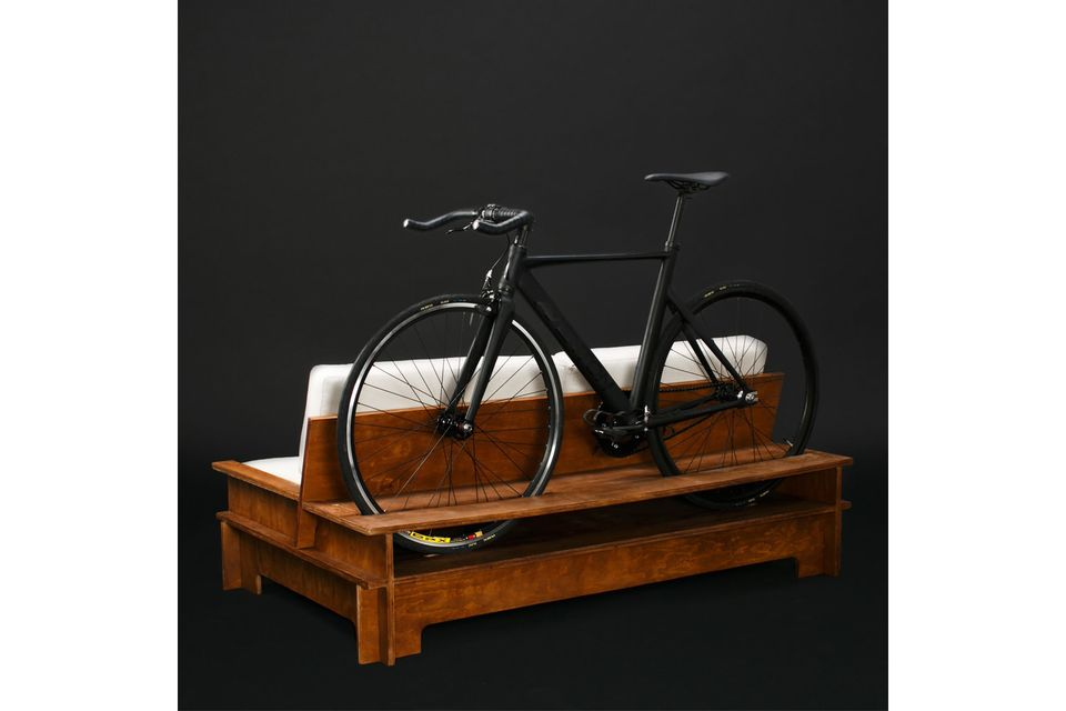Bike rack furniture is perfect for tiny apartments and dorm rooms - Small space bike storage decoration ...