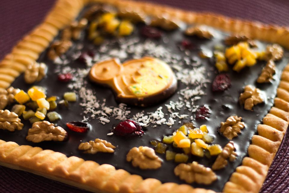 a closeup of a mazurek pastry